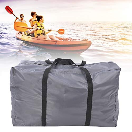 Saco de armazenamento dobrável extra grande - Bolsa de mão para serviços pesados, resistente a rasgos e à água, adequado para caiaques/barcos a gás/barcos de pesca/barcos de borracha(cinzento)