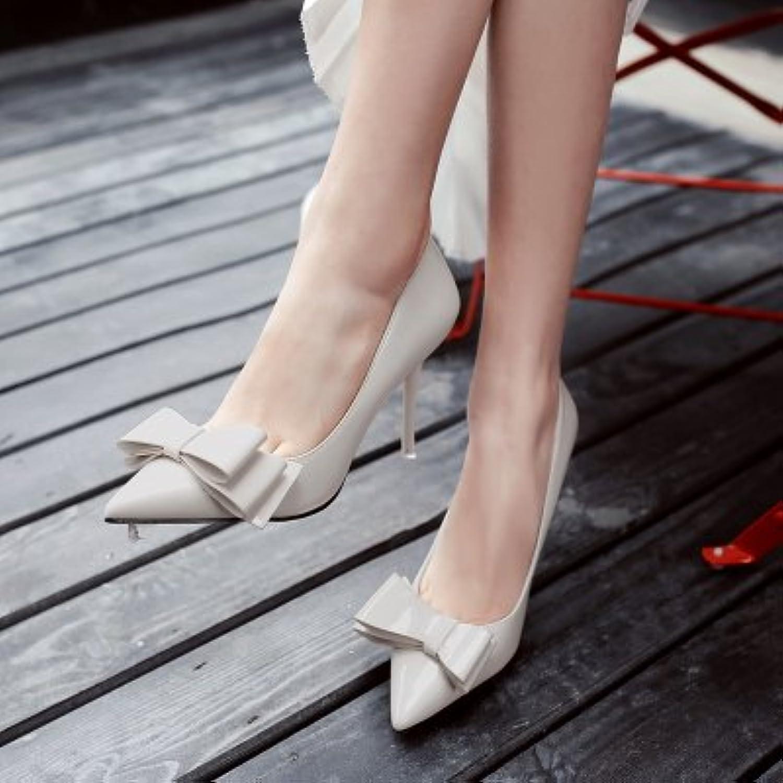 Xue Qiqi ultra-dünne Frauen mit Schuhe wie wilden Bow Tie mode Damenschuhe Arbeitsscheinwerfer Düse Tipp einzelne Schuhe
