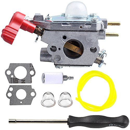 Hilom Carburetor with Screwdriver for Craftsman Troybilt TB2044XP MS2550 MS2560 TB2040XP Yard Machine Gas Trimmer Weed Eater Wacker Leaf Blower 27cc 753-06288
