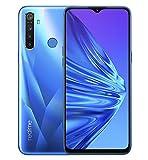Realme 5 - Smartphone de 6.5', 4GB RAM + 128GB ROM, LCD Multitáctil, procesador Octacore, cuádruple cámara 12MP IA, Dual Sim, Versión española, Azul (Crystal blue)