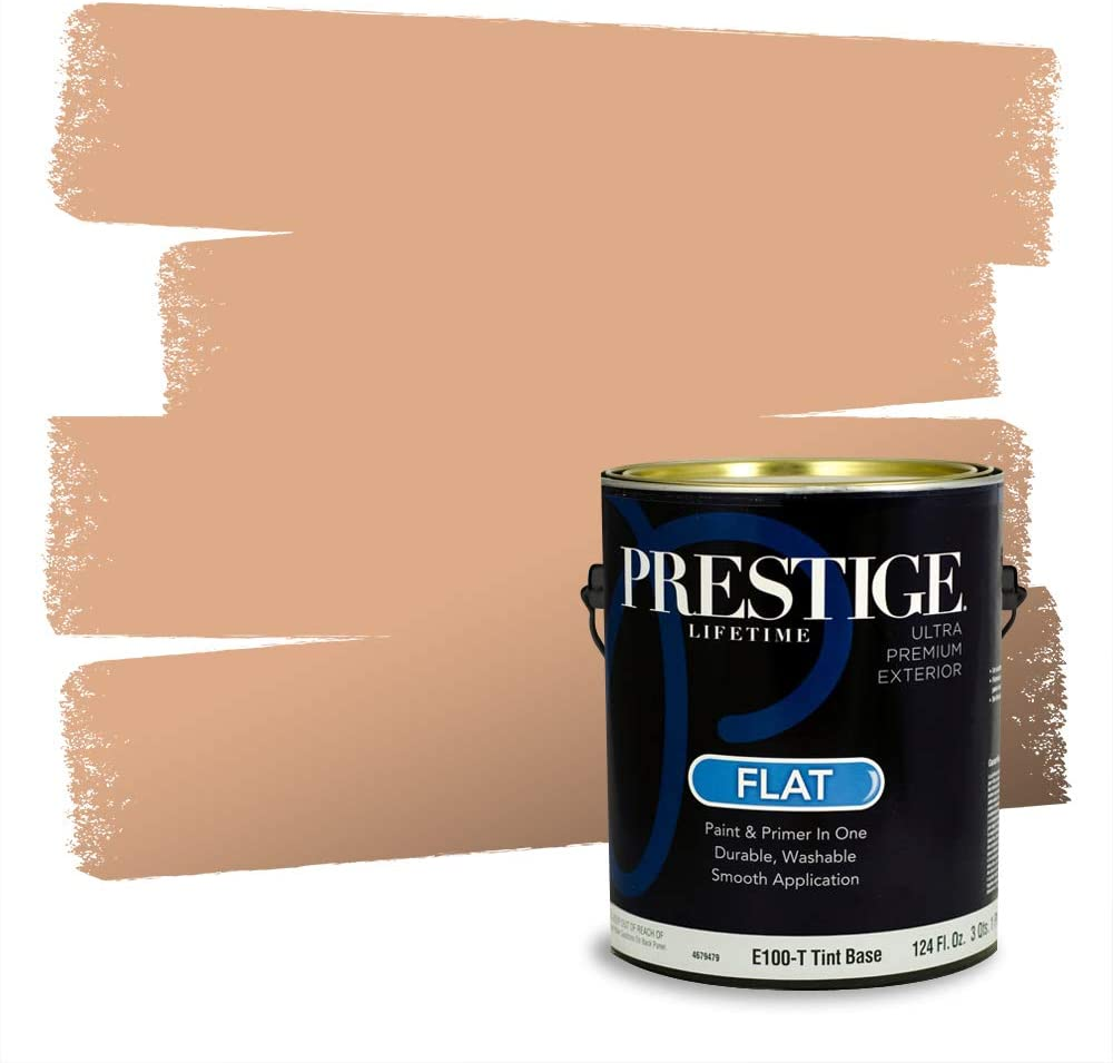 Prestige Paints Exterior Finally popular brand Paint and In One Primer Flat 1-Gallon Max 61% OFF