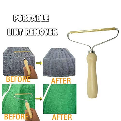Tragbarer Kleider Epilierer Lint Remover Fusselentferner für Kleidung,Fabric Shaver, Manual Brush Scratch Cut Tool Shaver Clothes Fuzz Kleiderrasierer (white)