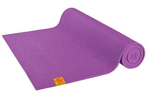 Chin Mudra Tappetino da yoga atossico, 183 x 61 x 0,45 cm, colore: viola orchidea.