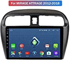 Alle Netcom 4G LTE Android 8.0 GPS-9-Zoll-Navigation für Mitsubishi Mirage das Auto Attrage gebaut 2012-2018 Video BT WiFi Radio Control Lenkrad,W-LAN, 1 + 16g,9 Zoll