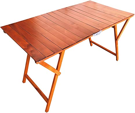 Tavolo Richiudibile Laura Katia A Strisce In Legno 70 X 140 Cm Ciliegio Amazon It Giardino E Giardinaggio
