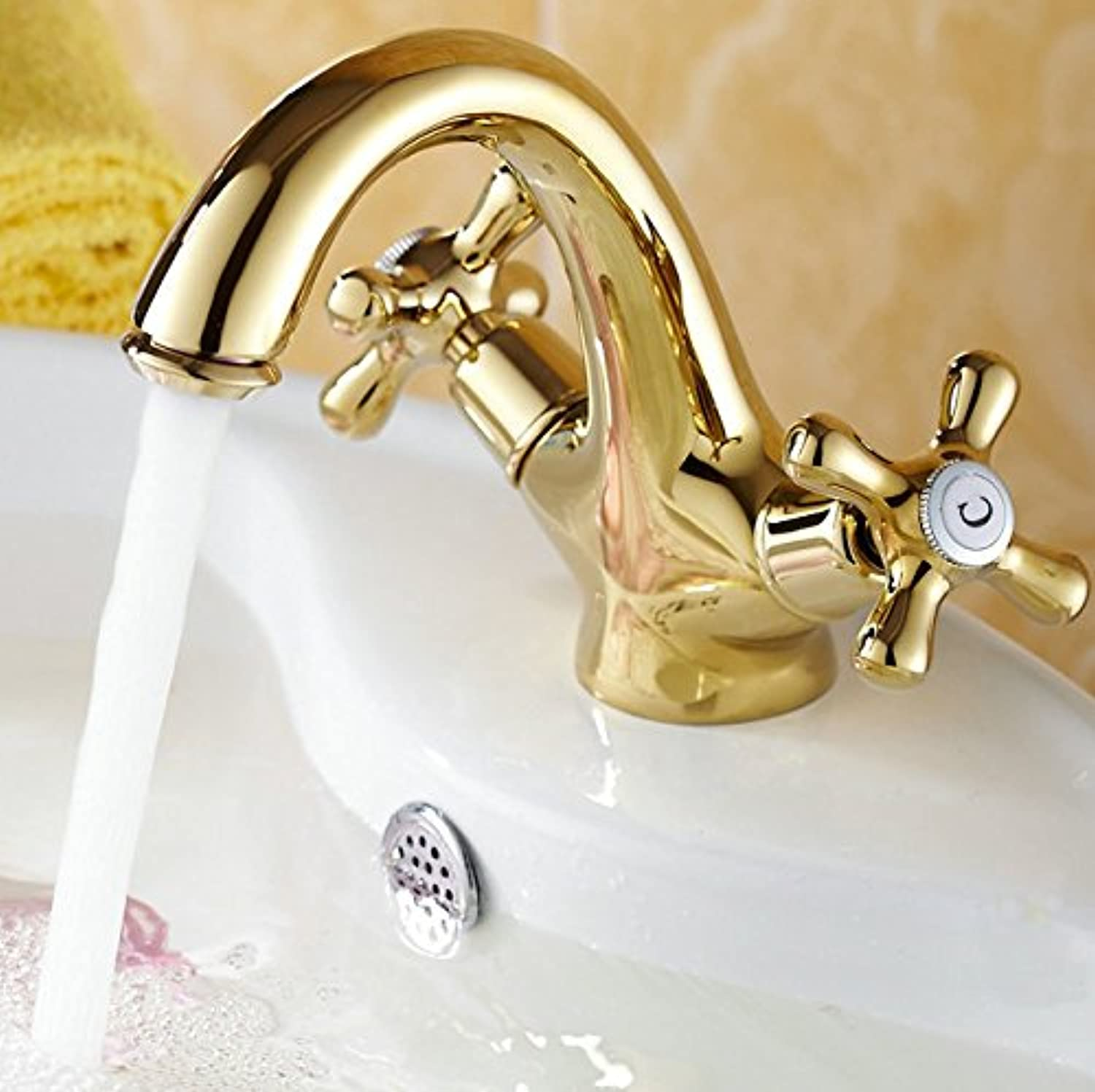 U-Enjoy Classic Dual Handle Top Quality Dual Holder 2Kg Ceramic Time-Limited Promotion Mixers Sink Mixer Tap Noble Gorgeous Faucet (Free Shipping)
