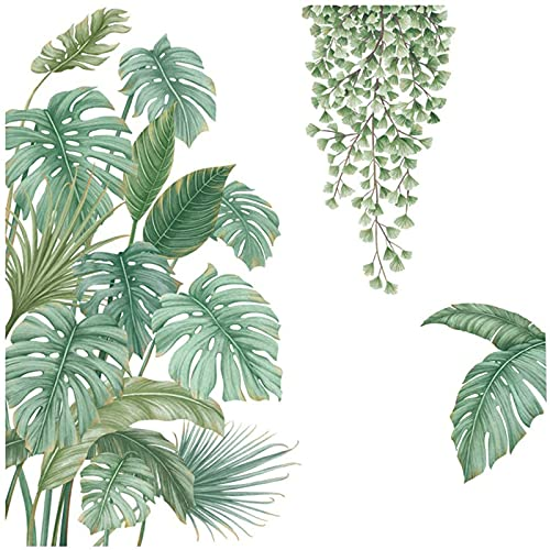 Pegatinas de Pared Planta Tropicales,Planta tropical Hoja Etiqueta,Pegatinas de Planta Tropicales, Pegatinas de Pared...