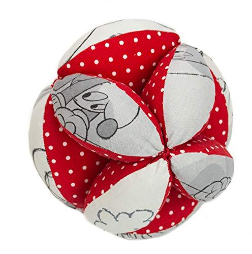Pelota Montessori de Tela para bebé. (Disney Comet rojo)