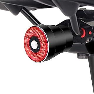 Greneric - Faro delantero de bicicleta LED fácil de instalar por USB, recargable, 10 horas, luces traseras delanteras y tr...