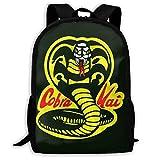 BUGKHD Cobra Kai mochila escolar estampada, ligera, resistente al agua, mochila de viaje,...