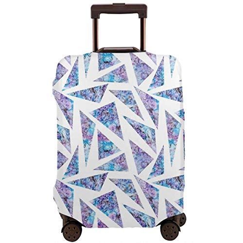 Delerain - Funda protectora para equipaje de viaje con diseño de triángulos violetas, lavable, con...