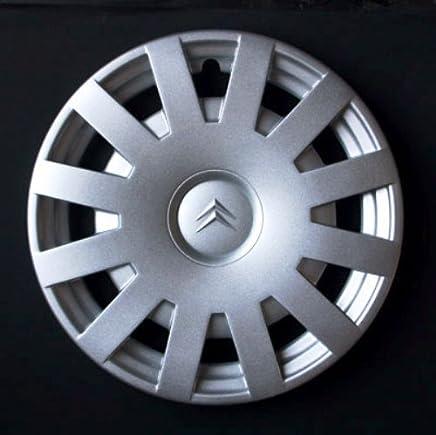 Wheeltrims Set de 4 tapacubos nuevos para Citroen C3 / C1 / C2 / C4 / C5 / C8 / Nemo/Berlingo/Xsara Picasso con Llantas Originales de 15''