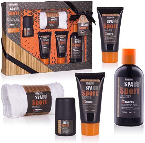 BRUBAKER Cosmetics - Coffret de bain & douche - Men's Spa...