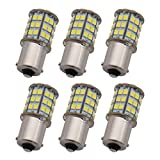GRV Ba15s 1156 1141 LED Bulb 4W 56-2835SMD Super Bright AC/DC12V-24V 40W Halogen Replacement for RV Trailer Camper Motorhome Interior Lights Cool White Pack of 6