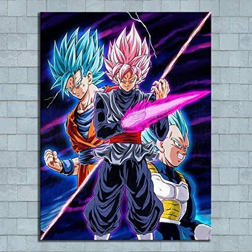 1 Piece Dragon Ball Super Anime Poster Super Saiyan Blue Goku N Vegeta Cartoon Canvas Painting product image
