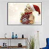 YuanMinglu Carteles e Impresiones de muñecas de Papá Noel habitación Infantil decoración de la Pared del hogar nórdico Pintura Pintura sin Marco 50X75 cm