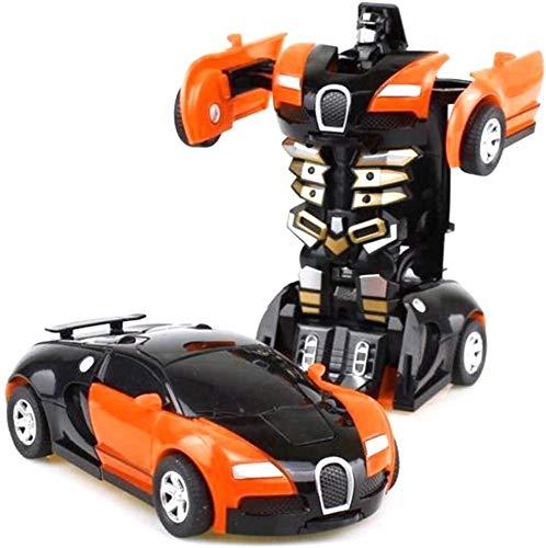 Dongyd Modelos de robots de coche con control remoto de coches Deformación Juguete para niños pequeños Vehículos eléctricos Juguetes Juegos Regalos para cumpleaños Navidad (color: naranja)