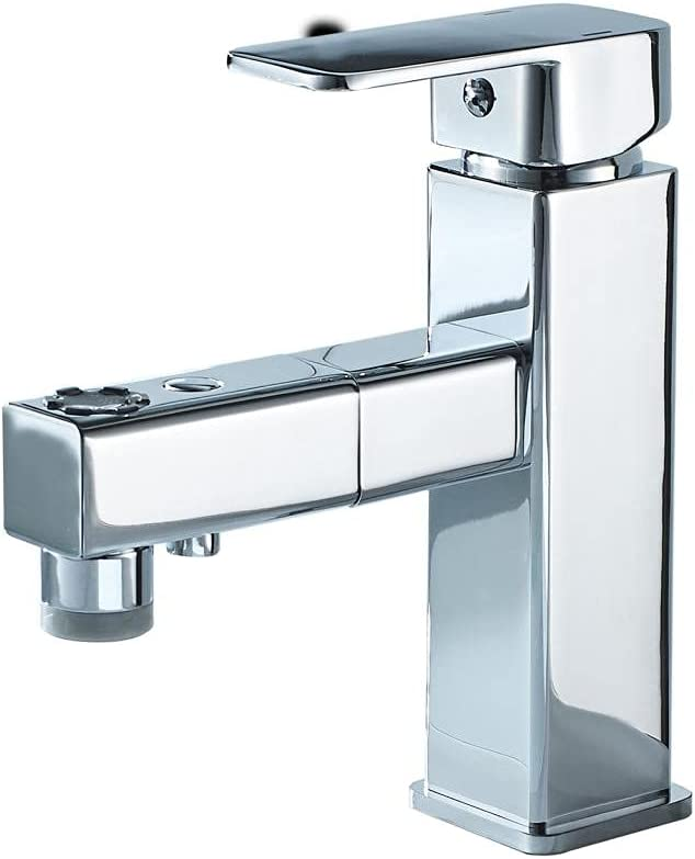 LVLONG Pull-Out Sprayer [Alternative dealer] Single Hole Rotating Sink Faucet Mixing Max 56% OFF