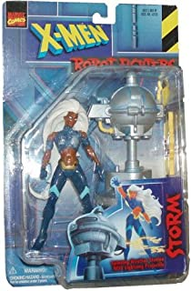 Marvel Comics 1997 Series X-Men Robot Fighters 6 Inch Action Figure - Variant STORM plus Spinning Weather Station with Lightning Projectile