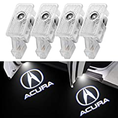 ★ Specification→ Voltage: 9-24V ; Output Power: 5W ; Material: ABS+Aluminum Alloy (battery not included). ★ Purchase Tips→ This package comes with 1 set of courtesy shadow lights which includes 4 LED lights. ★ The courtesy light for Acura compatible ...
