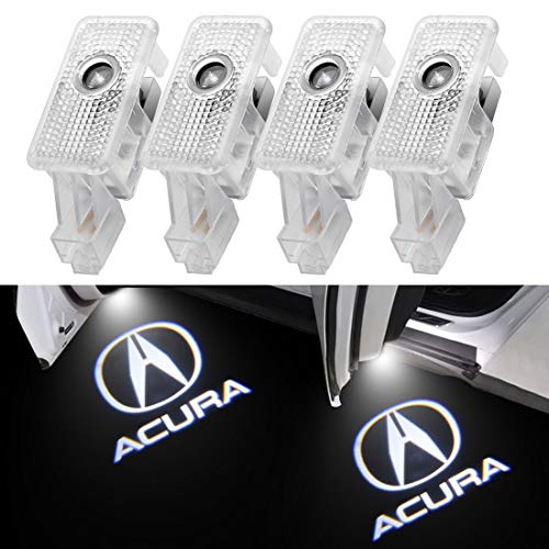 4 Pack Acura Logo Door Lights For Acura MDX/TLX/TL/RLX/ZDX Logo Lights For Acura Door Projector Light For Acura Light LED Welcome Light For Acura Accessories