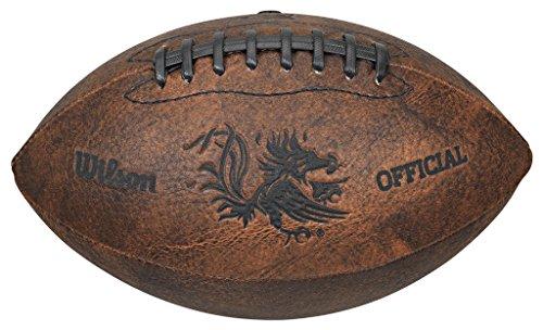 Gulf Coast Sales NCAA South Carolina Fighting Gamecocks Vintage Throwback Football, 9-inches, Brown (6381070GC)