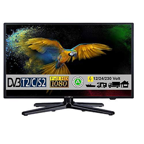 Reflexion LEDW24N, LED Fernseher 24 Zoll 60 cm, DVB-S /S2, DVB-T /T2, DVB-C, USB, 230V + 12 Volt und 24 Volt, [Energieklasse A]