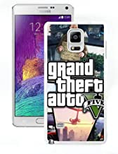 Samsung Galaxy Note 4 Grand Theft Auto V 1 White Shell Cover Case,Luxury Look