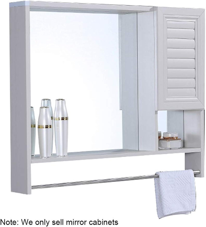 Bathroom Mirrors Mirror cabinet space aluminum mirror cabinet 6065cm 8966cm brown color white color wall mirror cabinet bathroom mirror with shelf simple bathroom cabinet wall mirror cabinet Wall-Mo