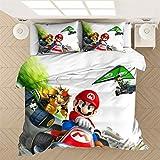 EA-SDN Super Mario - Juego de funda nórdica y funda de almohada (100% microfibra, juego de cama 2/3 piezas), diseño de Super Mario