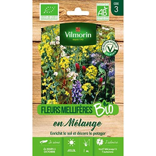 Vilmorin Sachet graines Fleurs Mellifères en mélange pour Engrais Vert Bio