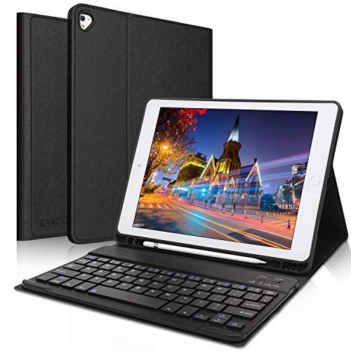 iPad Keyboard Case 9.7 inch, Compatible with iPad 6th Generation,iPad 5th Generation, iPad Pro 9.7 inch, iPad Air 2,iPad Air, Protective Folio Cover with Wireless Bluetooth Keyboard -Black