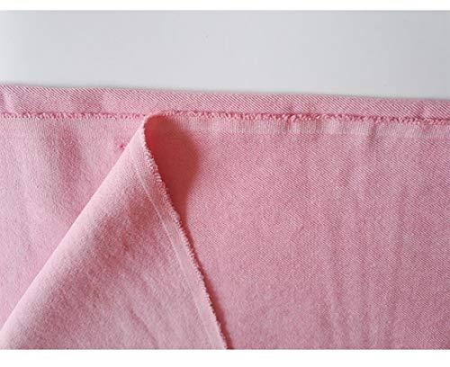 Tela De Mezclilla Lavada Rosada 100% Algodón para Artesanías Bricolaje Disfraz De Manualidades Hacer Coser Acolchado Shirting Vestidos Pantalones Casero Tela Decorativa(Size:0.5m)