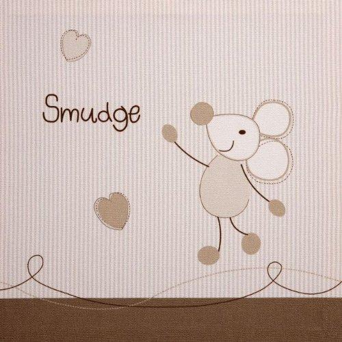 Bed-e-Byes Parure de chambre de bébé avec rideaux à pattes et couette 4 TOG Coffret cadeau inclus Motif Bramble and Smudge