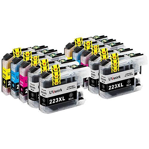 10 Druckerpatronen Uniwork Kompatibel für Brother LC223 LC223XL für Brother MFC-J5320DW MFC-J480DW MFC-J5620DW DCP-J4120DW DCP-J562DW MFC-J4620DW MFC-J5720DW MFC-J4420DW MFC-J480DW MFC-J680DW J880DW
