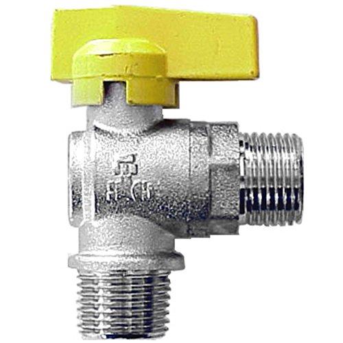 Idroblok Idroblock 06069201 Rubinetto per Gas, Squadra, Sfera, 1/2 m, Cromato