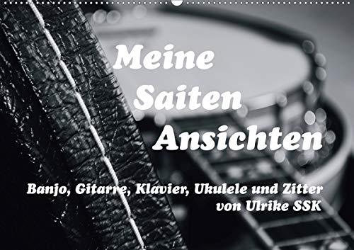 Meine Saiten Ansichten - Banjo, Gitarre, Klavier, Ukulele und Zitter von Ulrike SSK (Wandkalender 2021 DIN A2 quer)