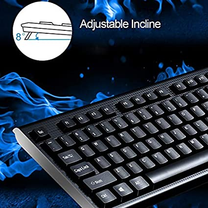 Color : Black Optical Mouse Kit Alice Keyboard Q9 1600 DPI Professional Wired Grid Texture Gaming Office Keyboard Black