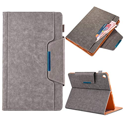 elecfan 7.9'' iPad Mini Case, Smart Stand Full Body Protective Cover Lightweight with Wallet Case with Pen Slot Cover Premium PU Leather Case for iPad MiNi 5/4/3/2/1 7.9 inch,Grey