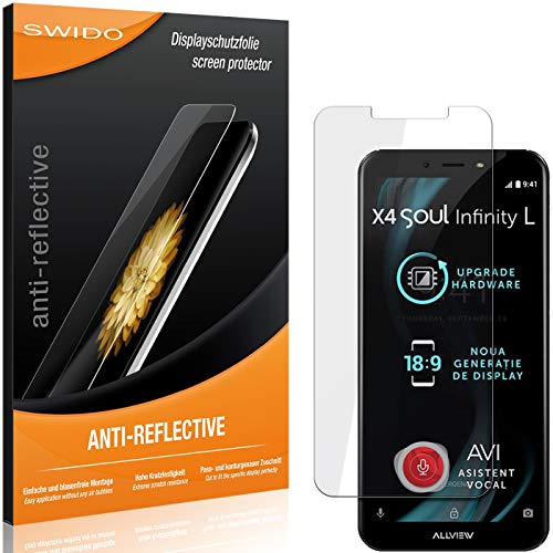 SWIDO Bildschirmschutzfolie für Allview X4 Soul Infinity L [3 Stück] Anti-Reflex MATT Entspiegelnd, Extrem Kratzfest, Schutz vor Kratzer/Folie, Bildschirmschutz, Schutzfolie, Panzerfolie