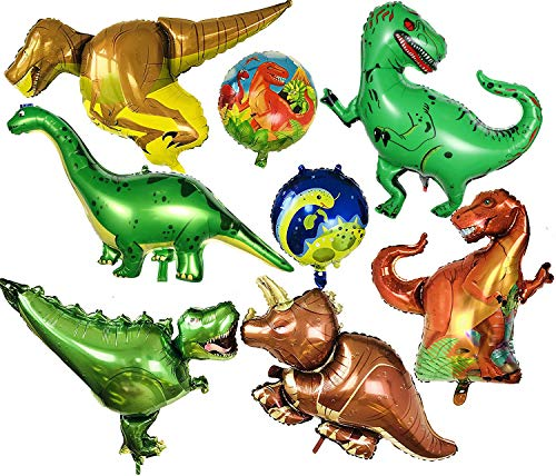 a ray of sunshine Folienballon Dinosaurier Ballon,Dinosaurier Helium Luftballon,Dinosaurier Ballon Party,Kinder Geschenk,für Geburtstag Dinosaurier Jungle Stil Party(8pcs)