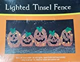 Tinsel Fence Halloween Pumpkin Lighted 36 Inches