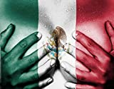 Qoalips Sex World Map 5D Diamond Painting Kits, Sweaty Upper Female Body Hands Covering Breasts Flag Mexico Painting Arts Craft Canvas Full Drill Cross Stitch, 12x16 Inch