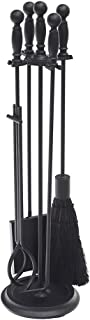 Minuteman International Fireplace Tool Set, Black