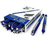 Uni-Ball UB-185S - Bolígrafo de punta de aguja de 0,5 mm, 12 unidades, color azul