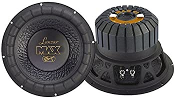 Lanzar 12in Car Subwoofer Speaker - Black Non-Pressed Paper Cone Stamped Steel Basket 4 Ohm Impedance 1000 Watt Power and Rubber Suspension for Vehicle Audio Stereo Sound System - MAX12