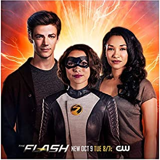 The Flash Grant Gustin, Jessica Parker Kennedy, Candace Patton XS promo 8 x 10 Inch Photo