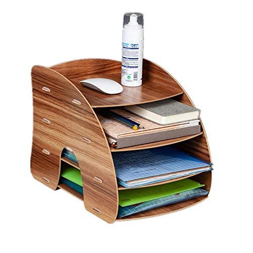 Aktenhalter Bürobedarf Schreibtisch Schubladen-Typ Aufbewahrungsbox Holz Desktop Aktenrahmen Holz Aktenrahmen Aktenrahmen Regal Kirsche