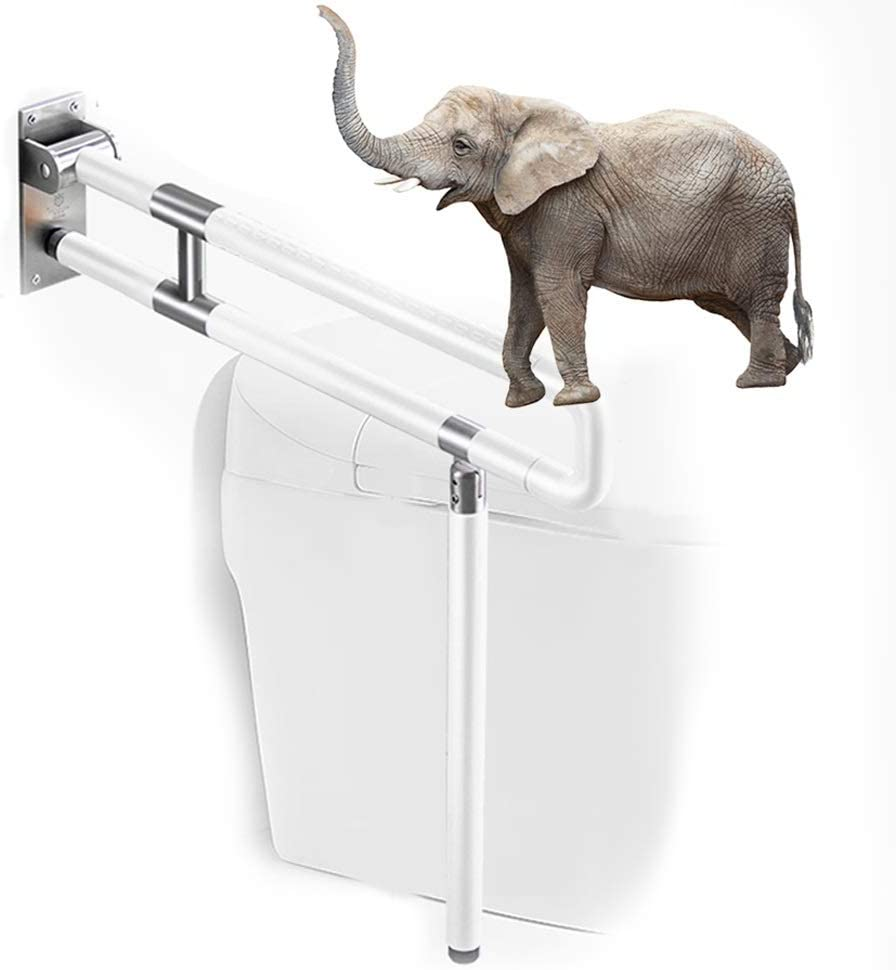 Bathroom Safety Handicap Challenge the lowest price of Japan ☆ Be super welcome Grab Whi Bar Folding