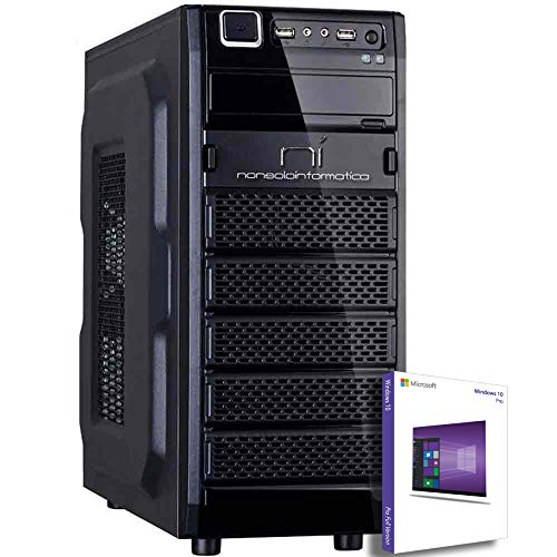 PC DESKTOP COMPUTER FISSO CON LICENZA WINDOWS 10 pro Talloncino con seriale INTEL QUAD CORE RAM 8GB DDR4 HD1TB DVD/WIFI/HDMI FISSO COMPLETO ASSEMBLATO